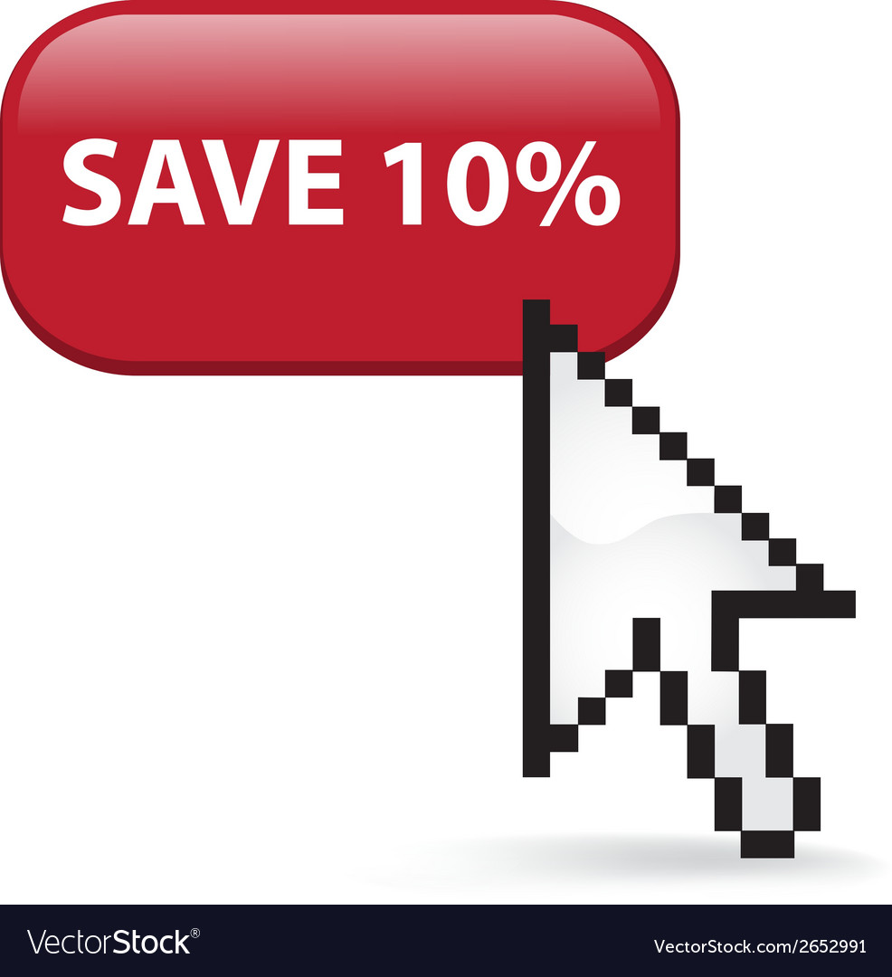 Save 10 button click vector | Price: 1 Credit (USD $1)