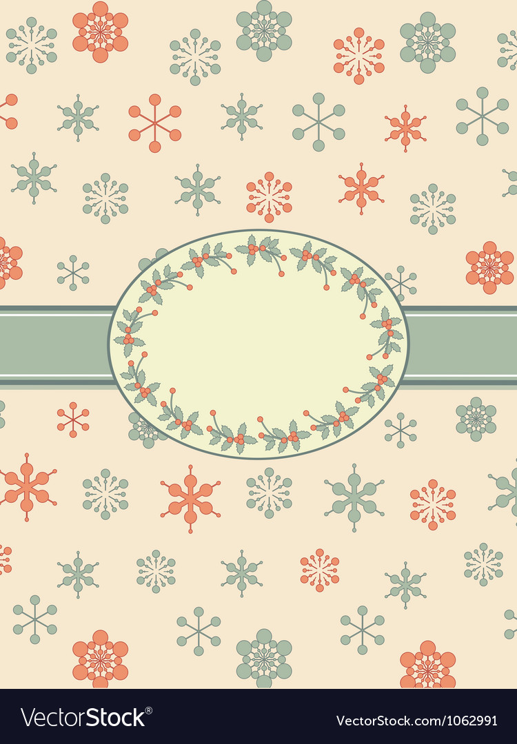 Vintage christmas background border vector | Price: 1 Credit (USD $1)