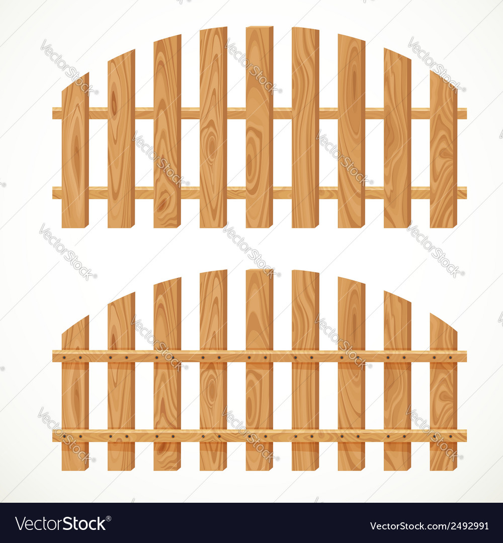 Wooden semicircular fence vector | Price: 1 Credit (USD $1)