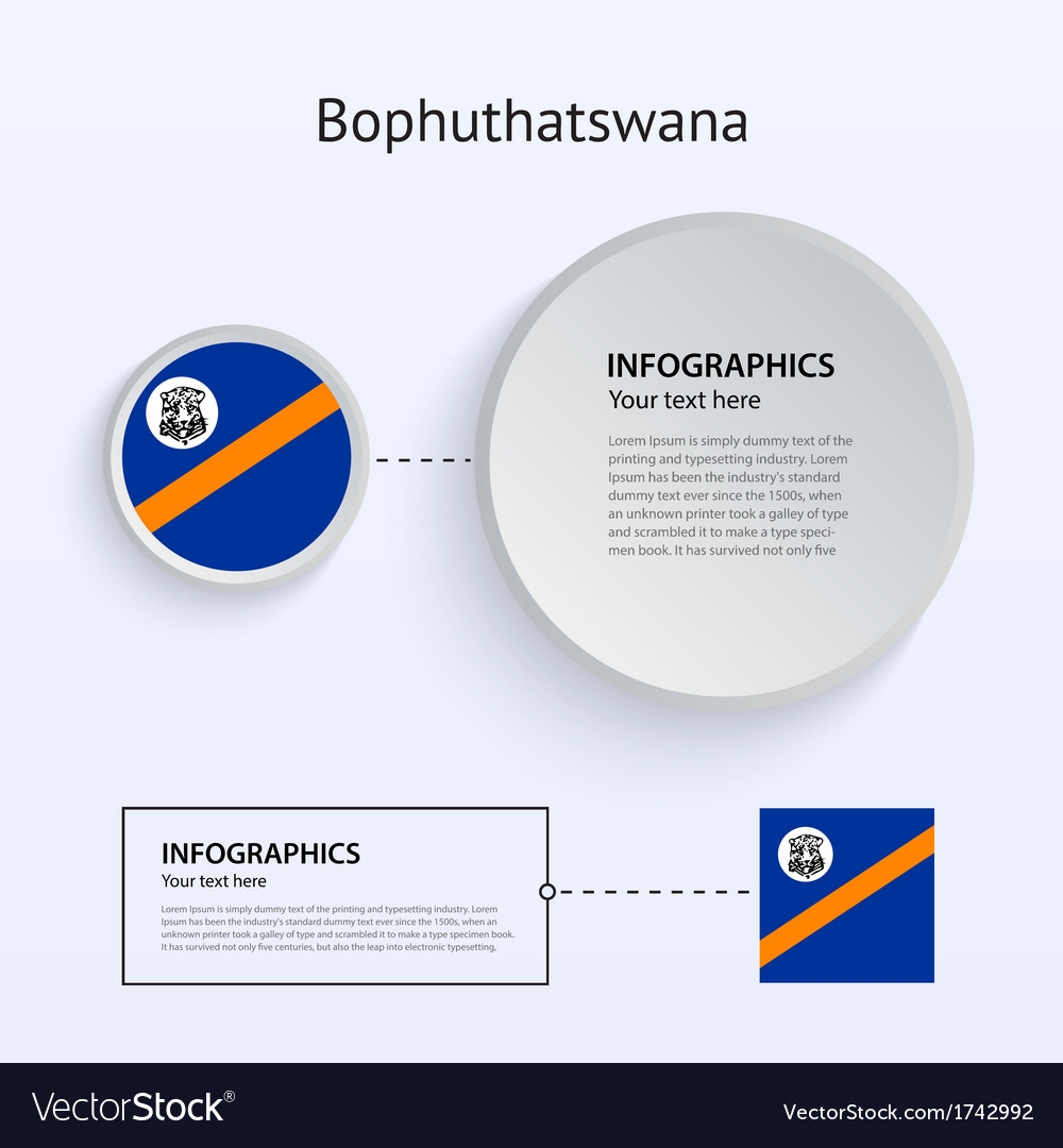 Bophuthatswana country set of banners vector | Price: 1 Credit (USD $1)