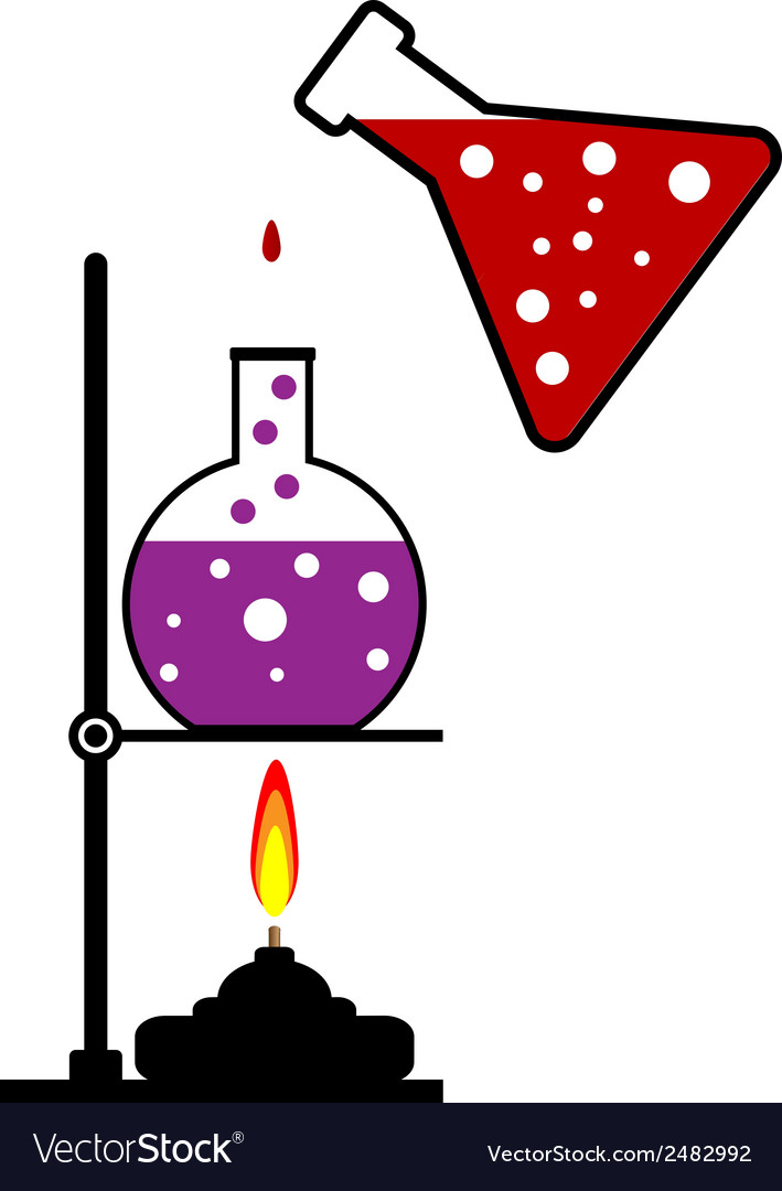 Chemical reaction vector | Price: 1 Credit (USD $1)