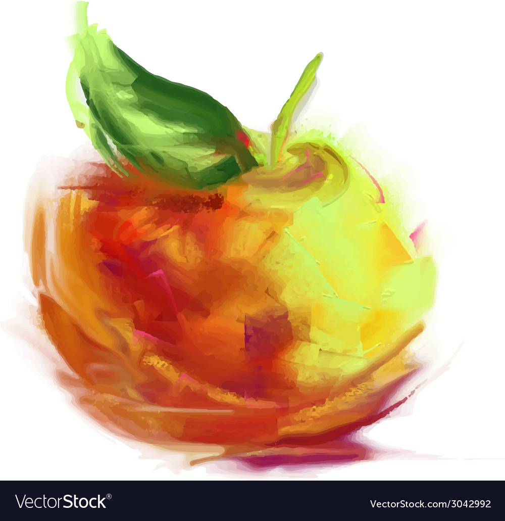 Drawing apple vector | Price: 1 Credit (USD $1)