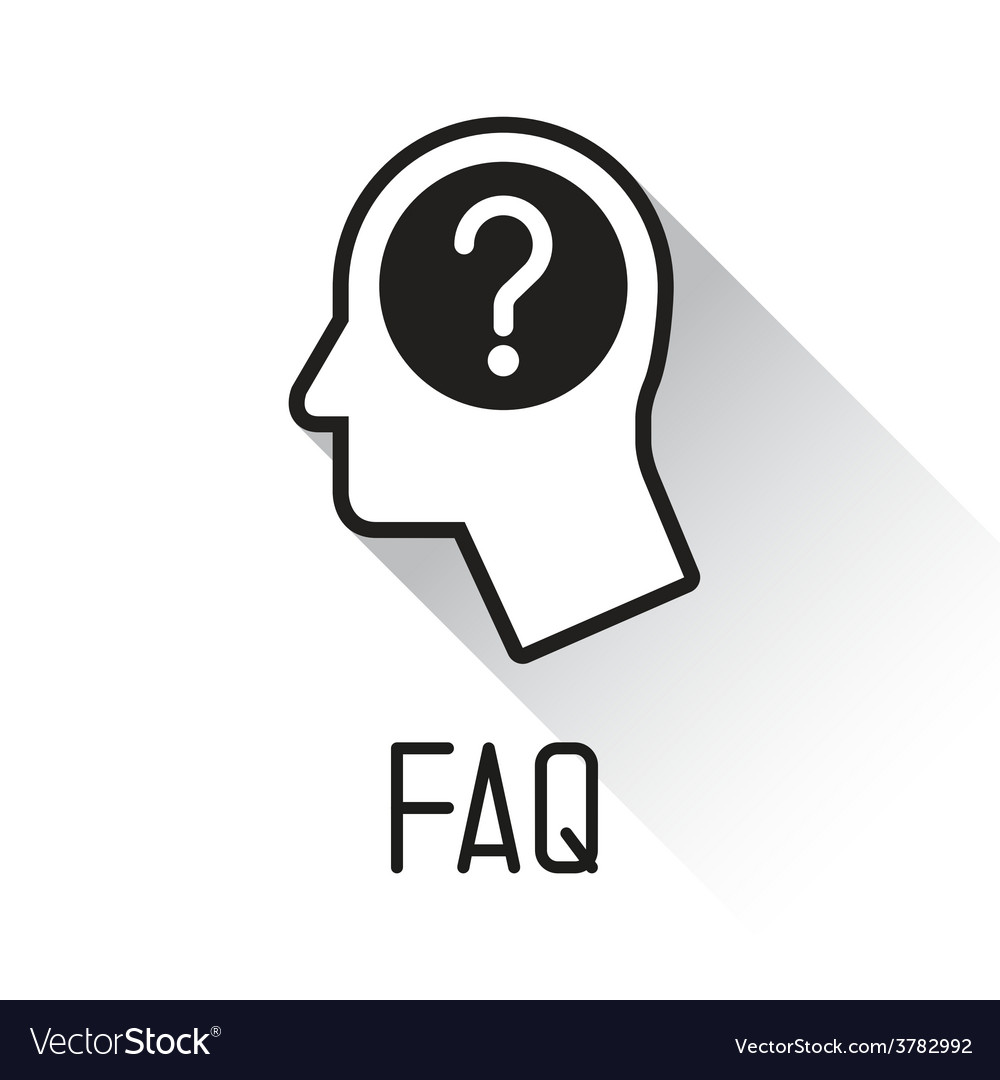 Human head with question mark symbol vector | Price: 1 Credit (USD $1)
