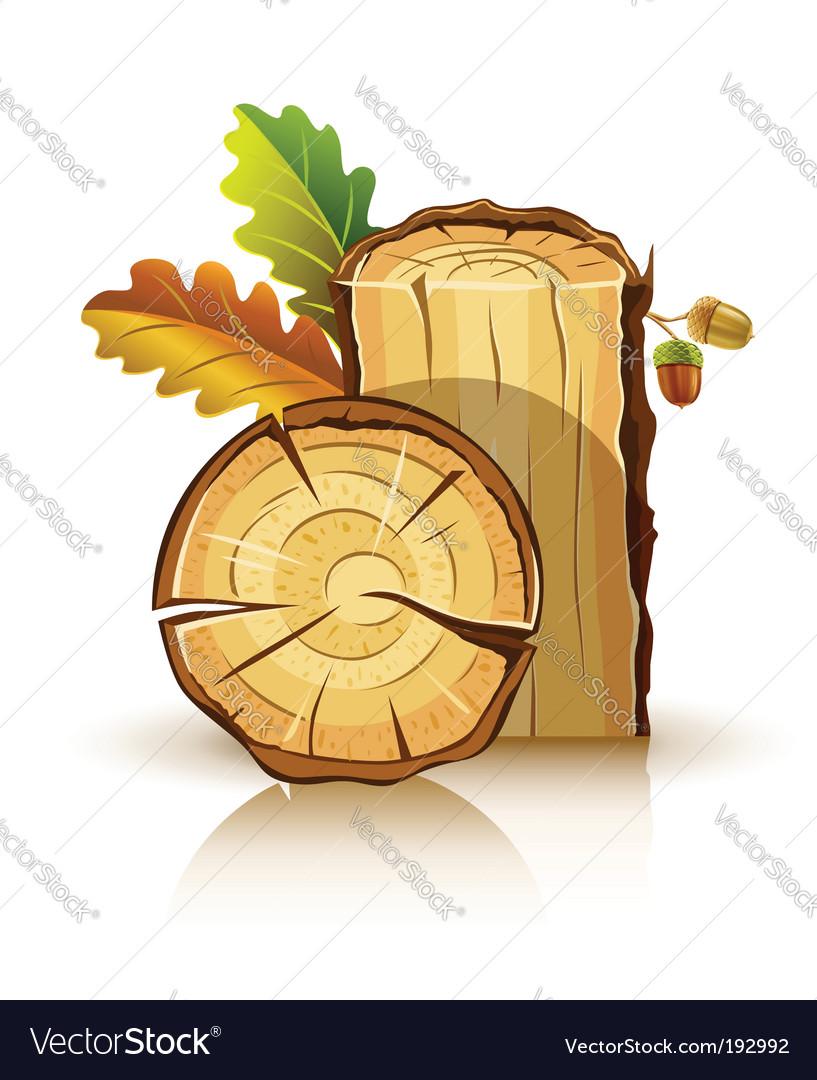 Oak tree icons vector | Price: 1 Credit (USD $1)