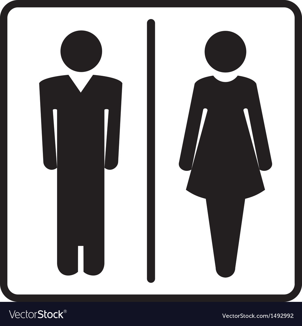 Restroom symbols vector | Price: 1 Credit (USD $1)