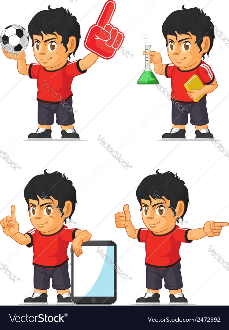 Soccer boy customizable mascot 7 vector | Price: 1 Credit (USD $1)