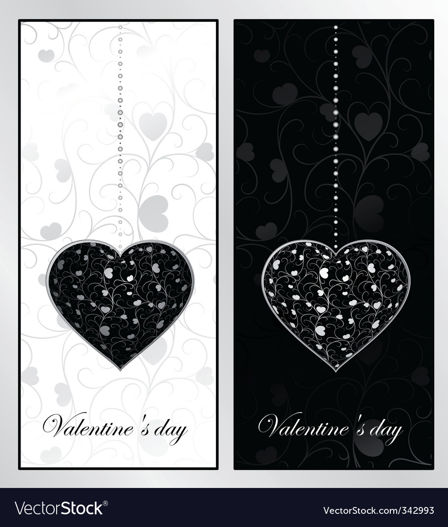 Black and white valentines day vector | Price: 1 Credit (USD $1)
