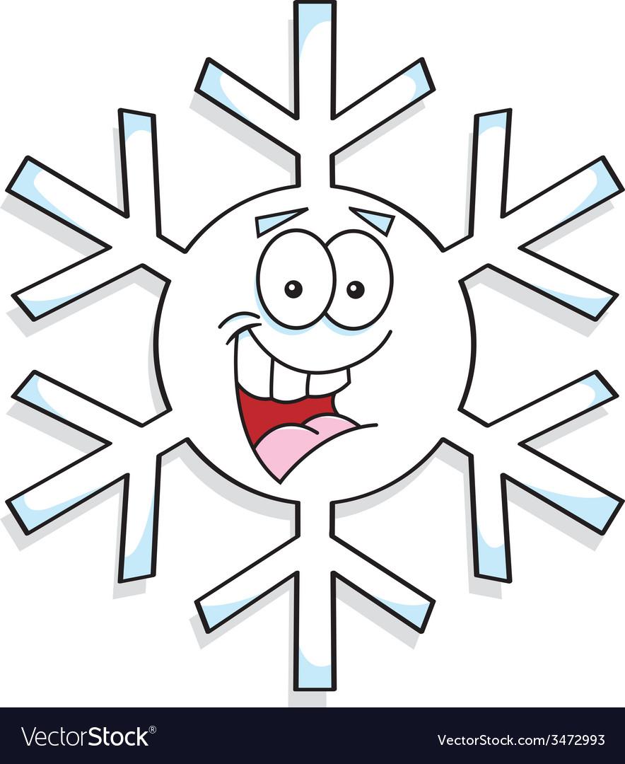 Cartoon snowflake vector | Price: 1 Credit (USD $1)