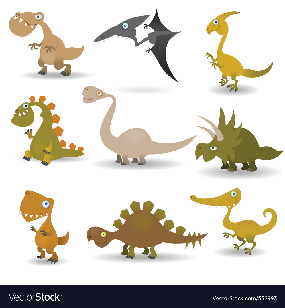 Dinosaurs set vector | Price: 1 Credit (USD $1)
