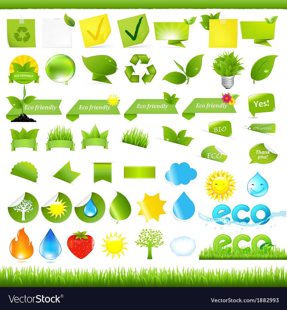 Eco set vector   Price: 1 Credit (USD $1)