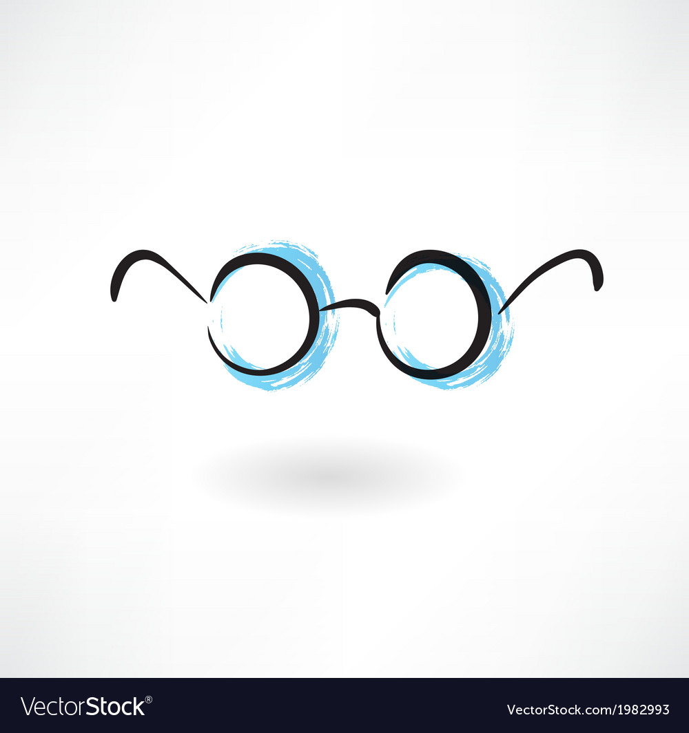Eyeglasses grunge icon vector | Price: 1 Credit (USD $1)