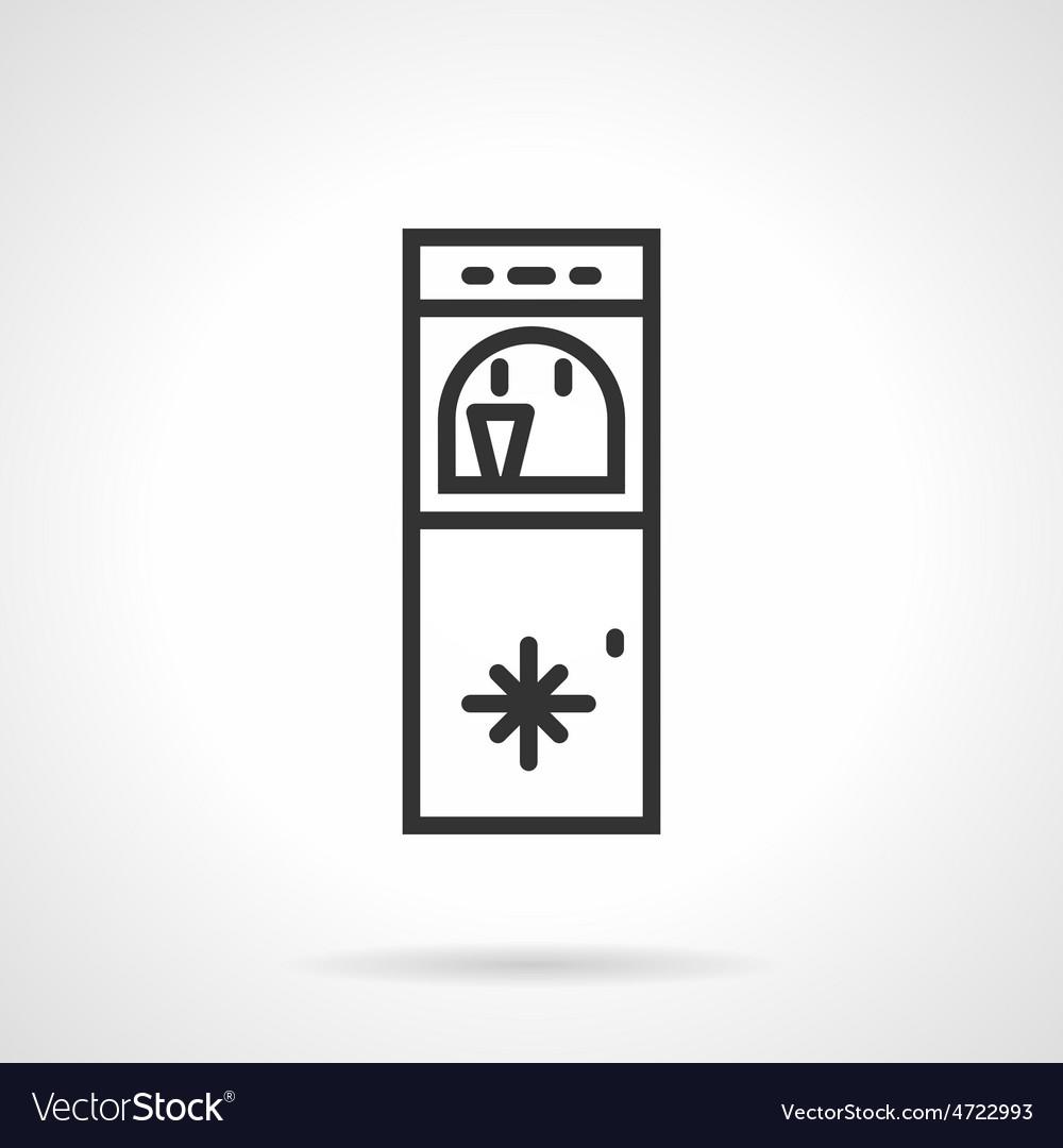 Floor water cooler line icon vector | Price: 1 Credit (USD $1)