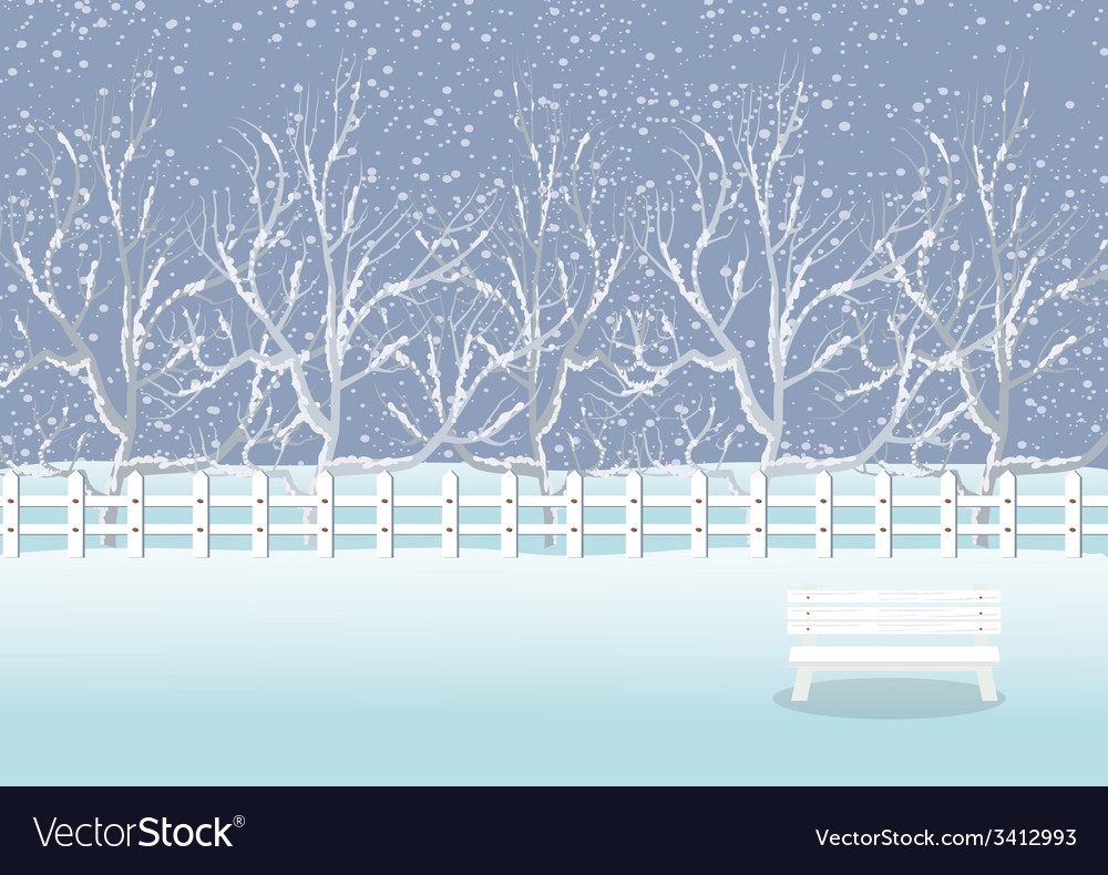Holiday winter landscape background with winter tr vector | Price: 1 Credit (USD $1)