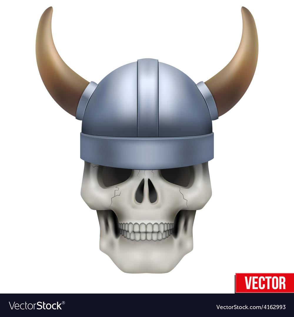 Human skull with viking helmet vector | Price: 3 Credit (USD $3)