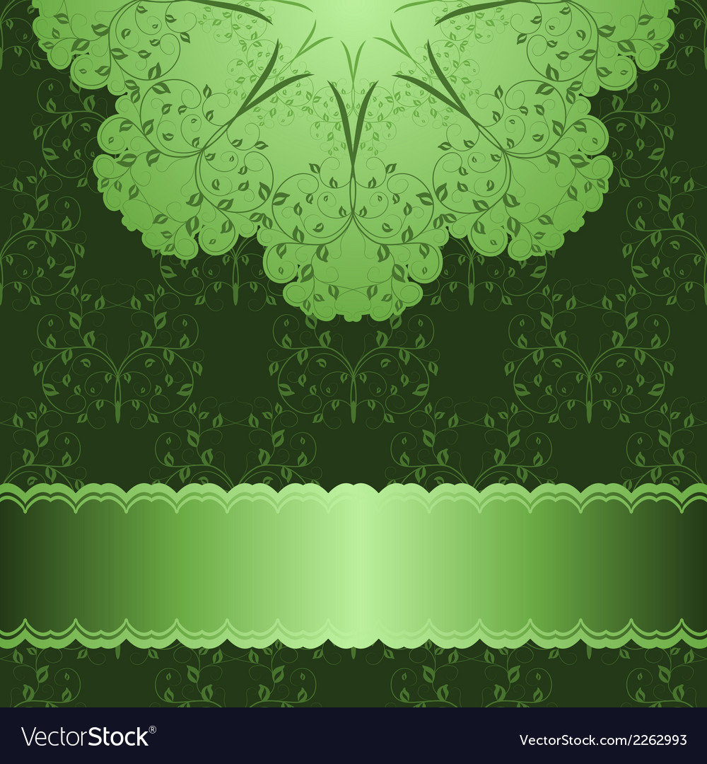 Pattern in green background vector | Price: 1 Credit (USD $1)