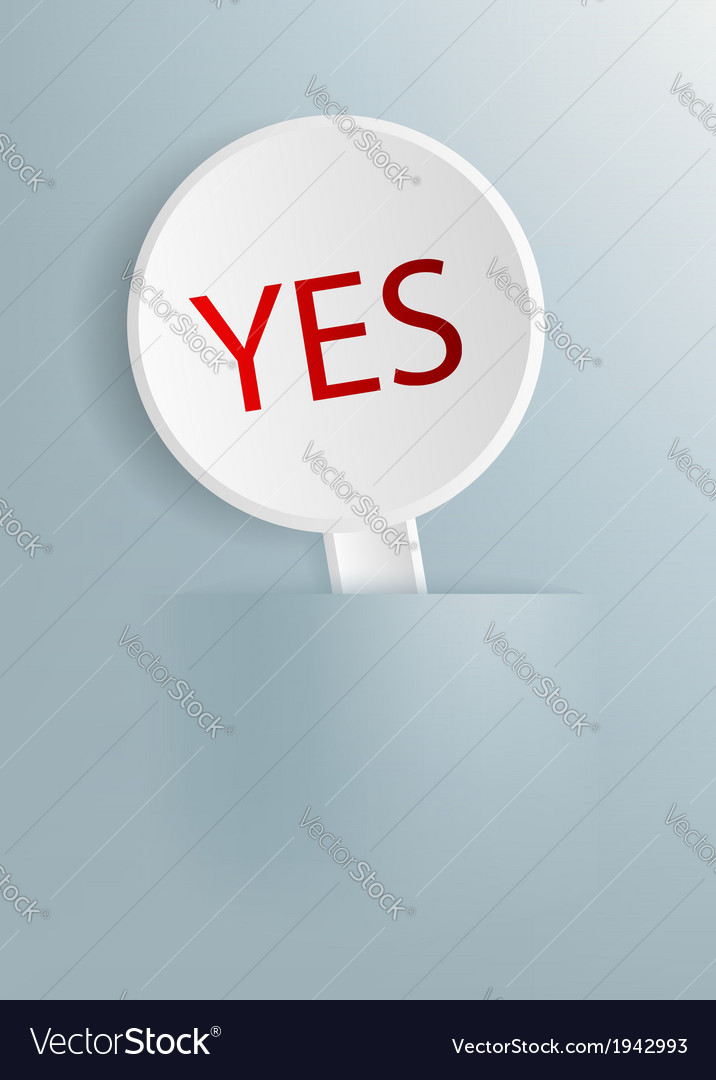 Plate with the word yes vector | Price: 1 Credit (USD $1)