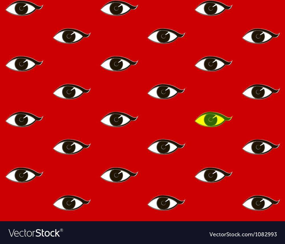 Red background with eyes vector | Price: 1 Credit (USD $1)