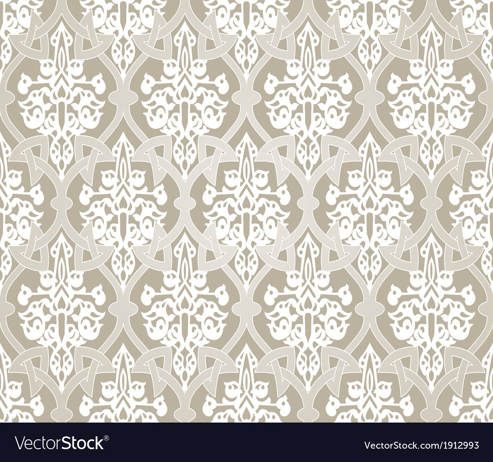 Vintage background traditional arabic motifs vector | Price: 1 Credit (USD $1)