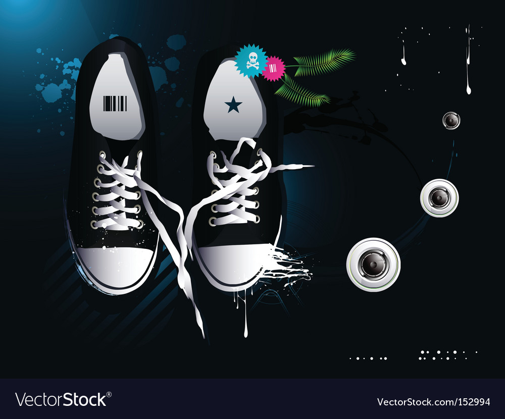 Athletic shoes sneakers vector | Price: 3 Credit (USD $3)