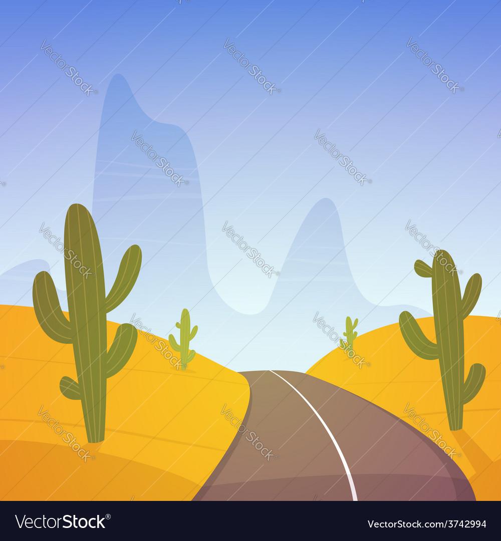 Desert road vector | Price: 3 Credit (USD $3)