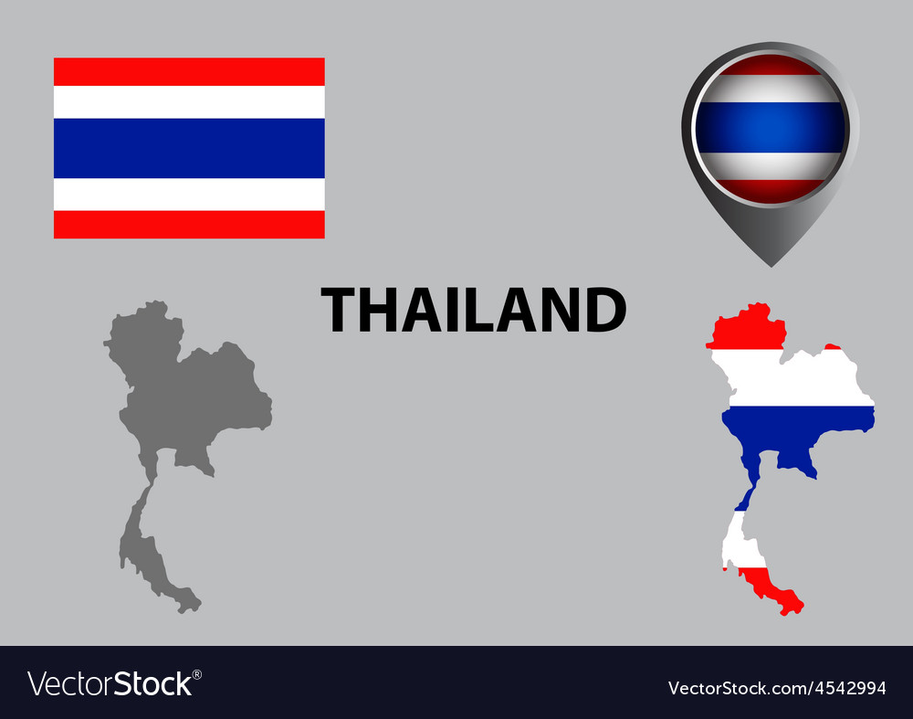 Map of thailand and symbol vector | Price: 1 Credit (USD $1)