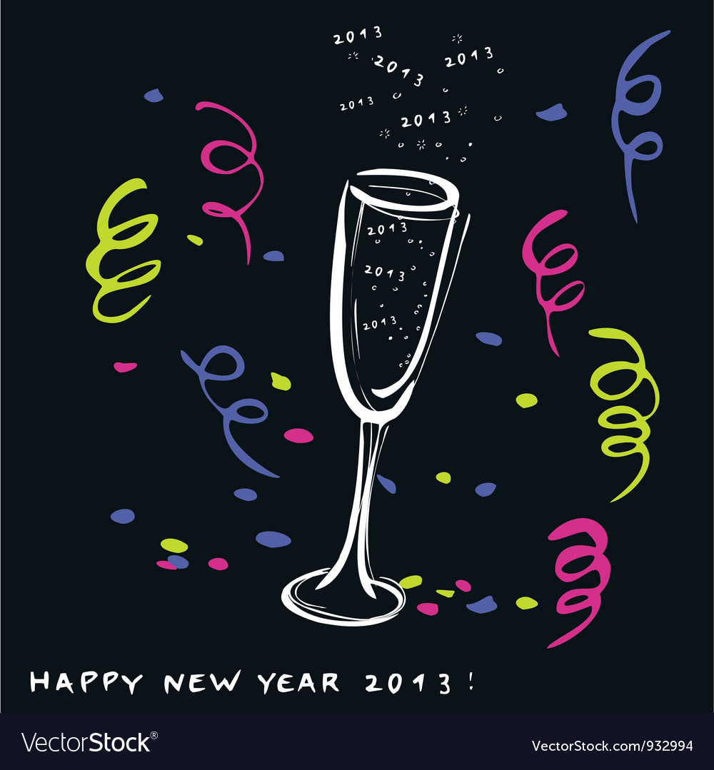 New year toast 2013 vector | Price: 1 Credit (USD $1)