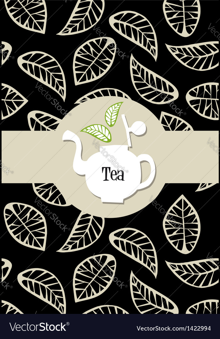 Tea package label vector | Price: 1 Credit (USD $1)