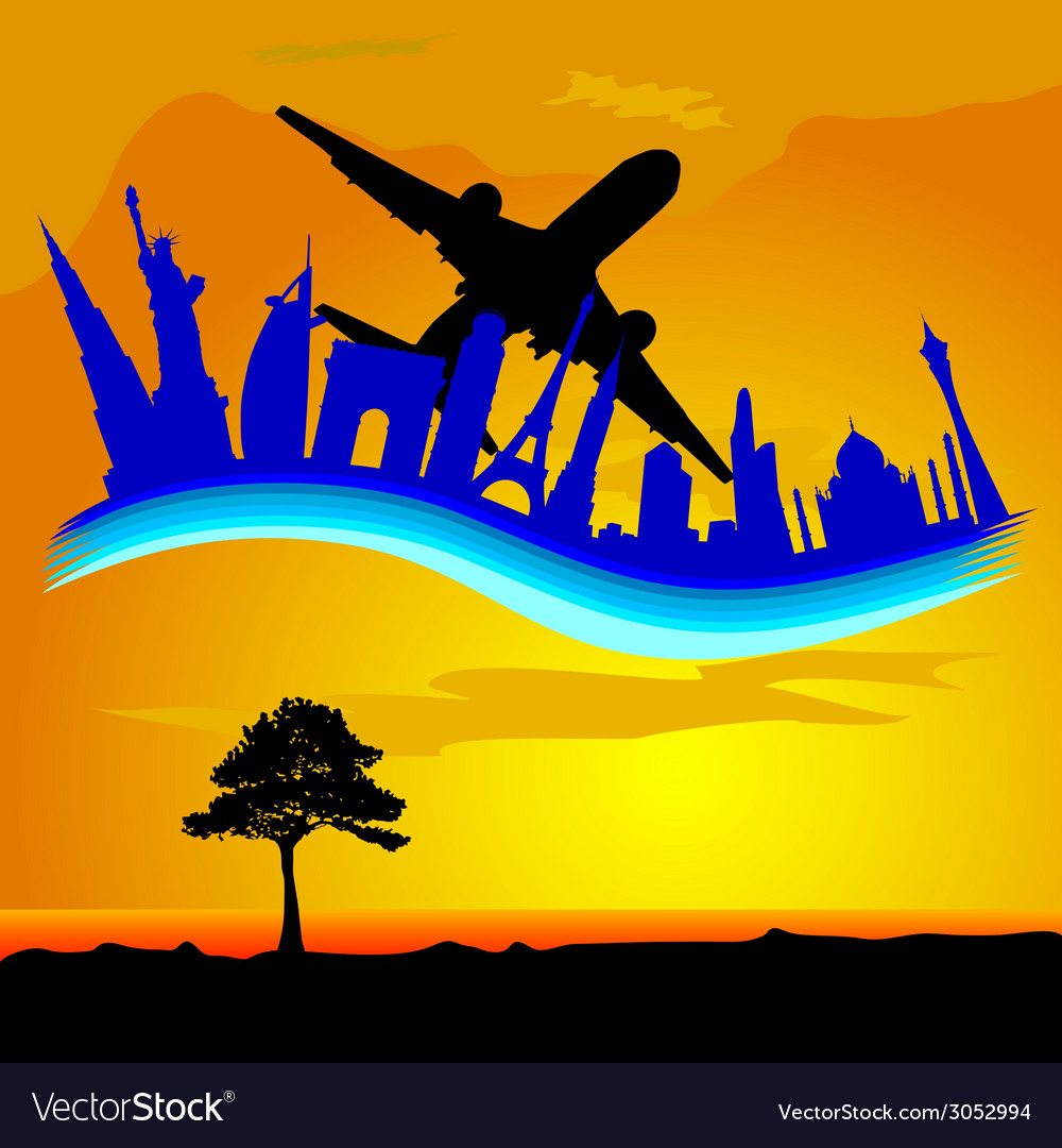 Travel and of famous buildings in the cities vector   Price: 1 Credit (USD $1)