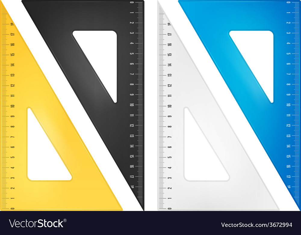 Triangle ruler set vector | Price: 1 Credit (USD $1)