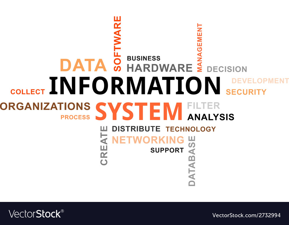 Word cloud information system vector | Price: 1 Credit (USD $1)