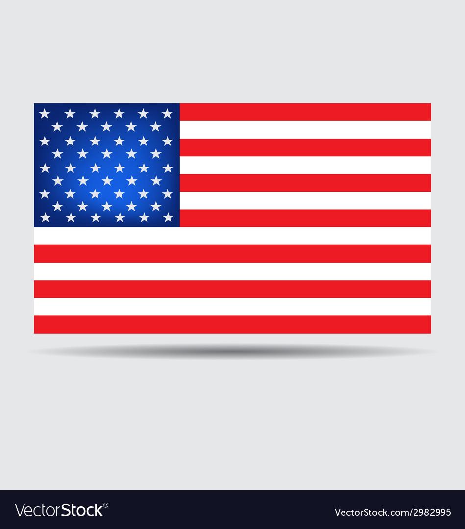 American flag vector | Price: 1 Credit (USD $1)