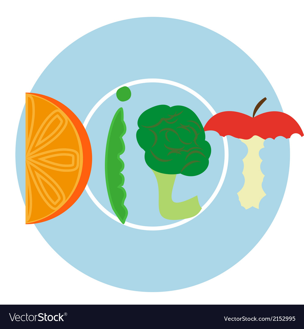 Blue diet plate vector | Price: 1 Credit (USD $1)