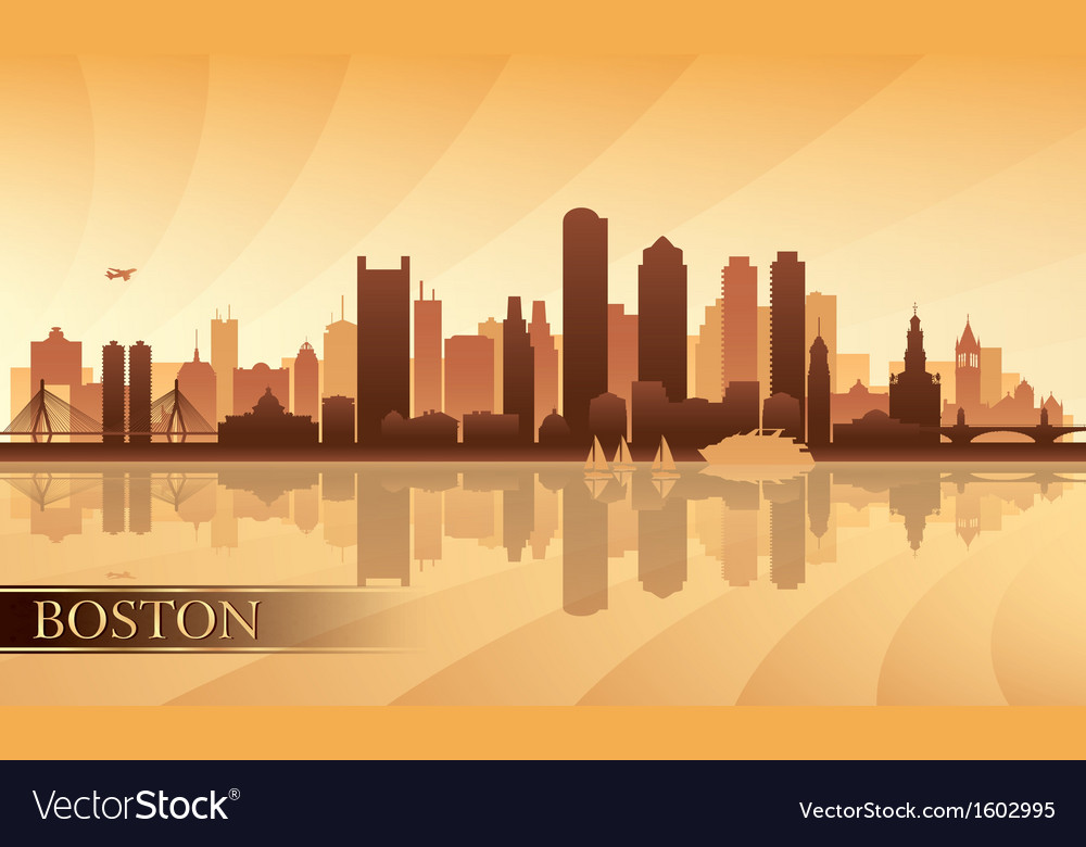 Boston city skyline silhouette background vector | Price: 1 Credit (USD $1)