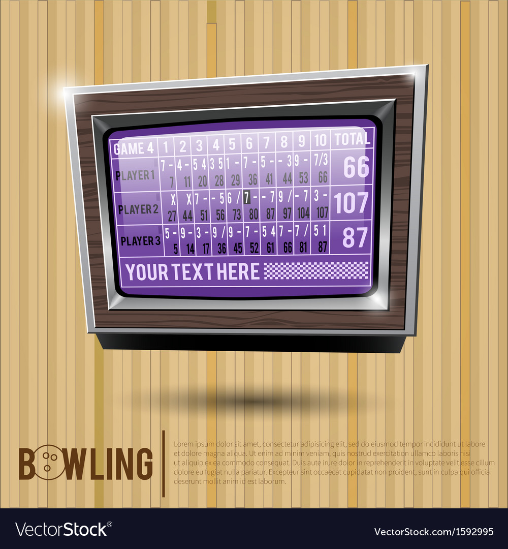 Bowling alley scoreboard vector | Price: 1 Credit (USD $1)