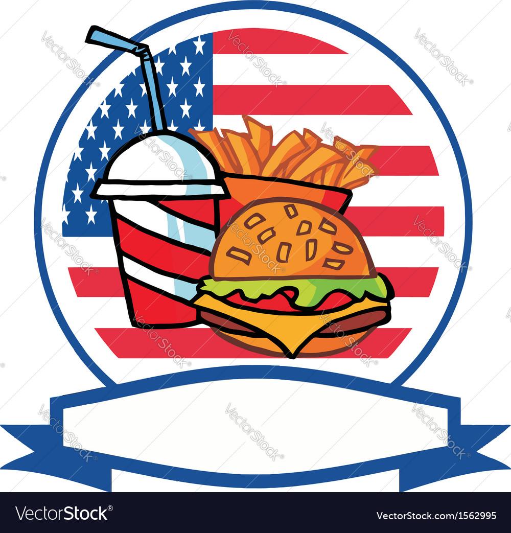 Cartoon burger meal vector   Price: 1 Credit (USD $1)
