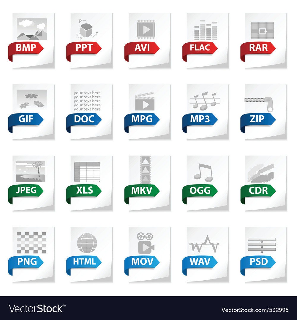 Documents icon set vector | Price: 1 Credit (USD $1)