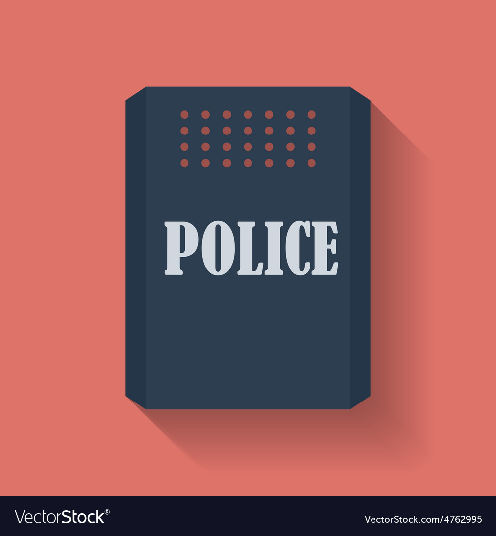 Icon of police assault shield flat style vector | Price: 1 Credit (USD $1)