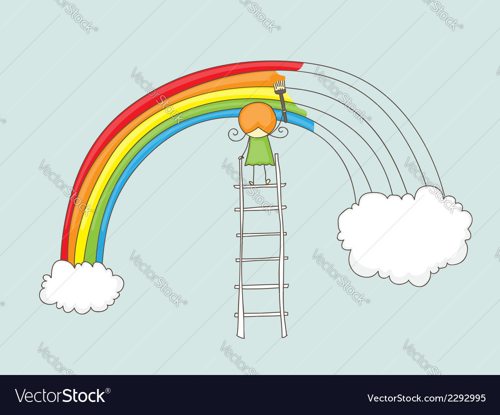 Painting rainbow vector | Price: 1 Credit (USD $1)