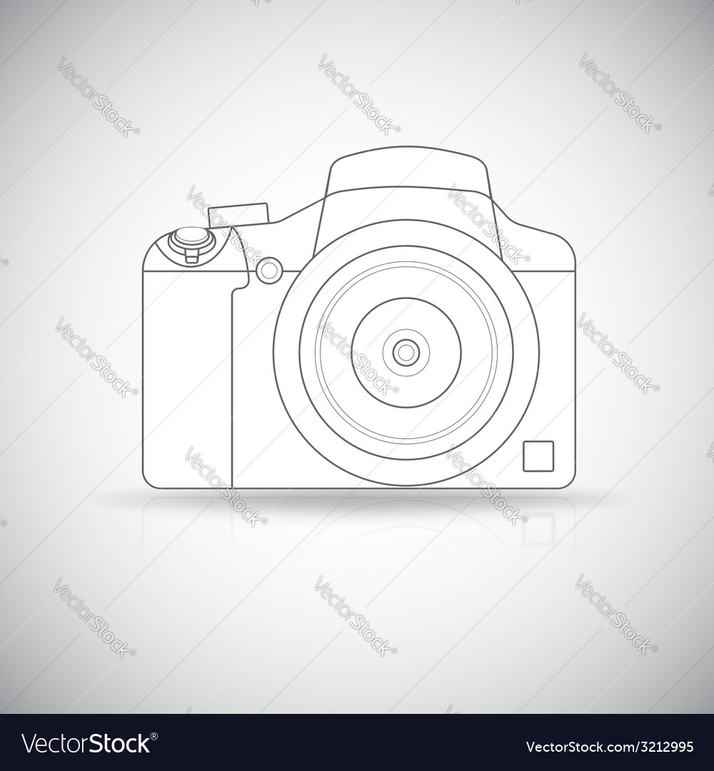 Photo camera outline vector | Price: 1 Credit (USD $1)