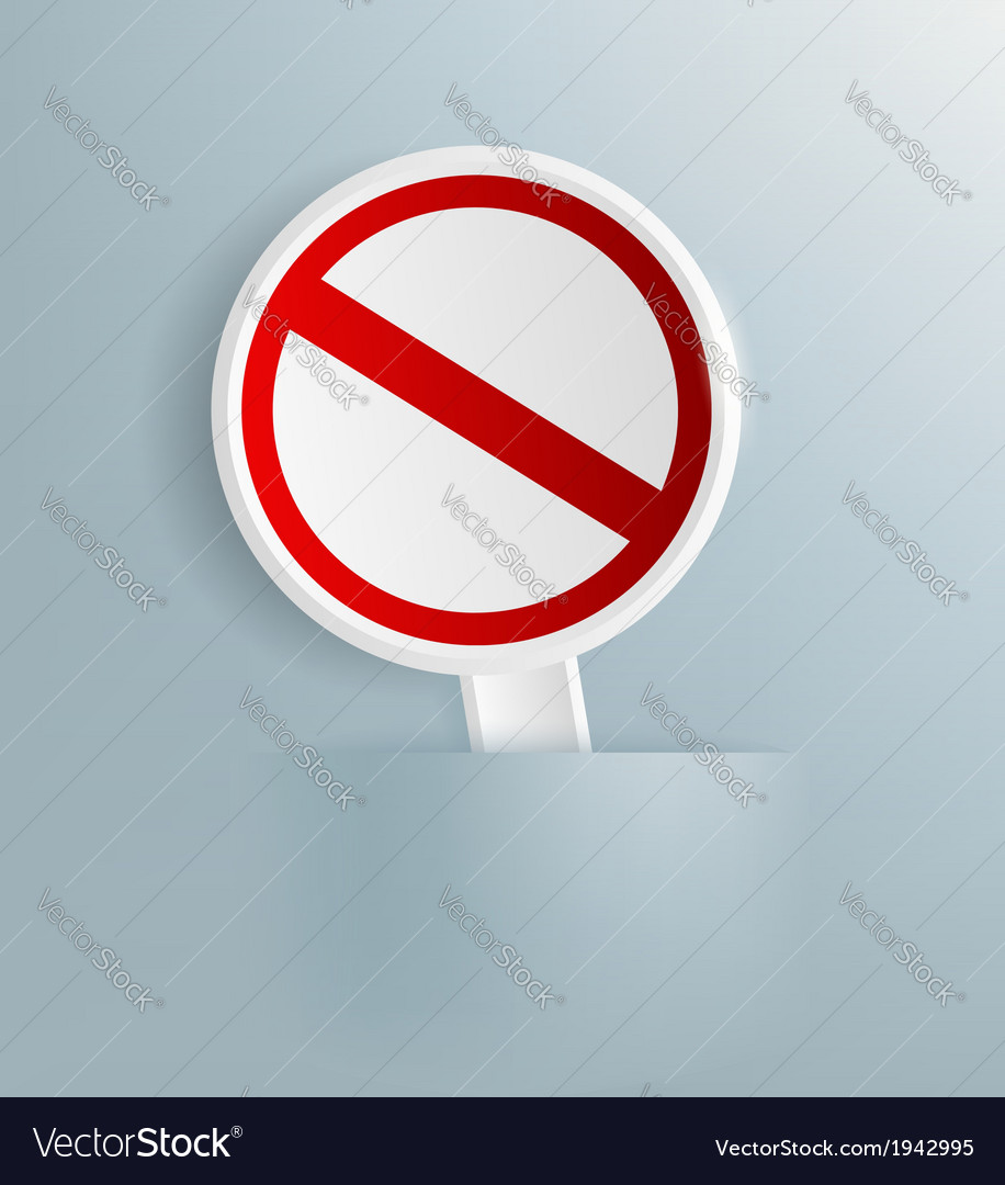 Prohibitory sign vector | Price: 1 Credit (USD $1)