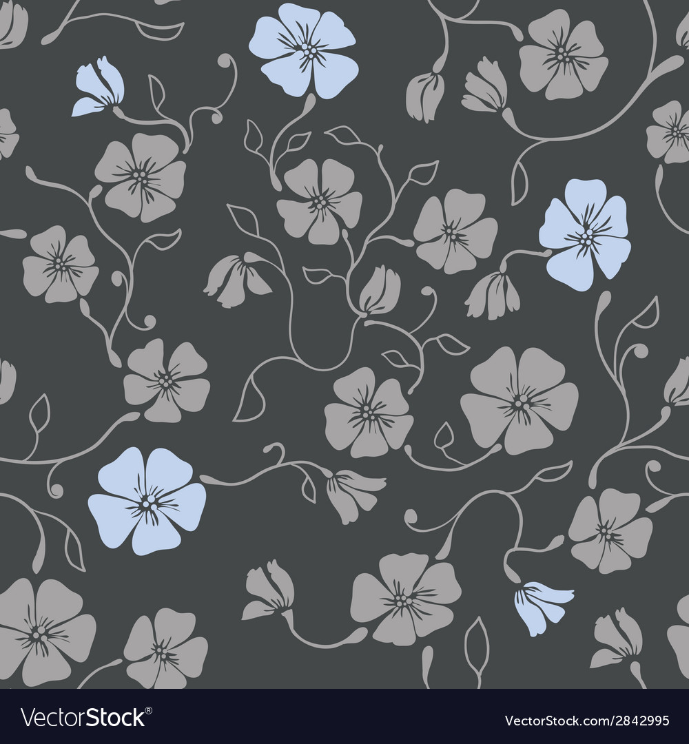 Renaissance floral seamless pattern vector | Price: 1 Credit (USD $1)
