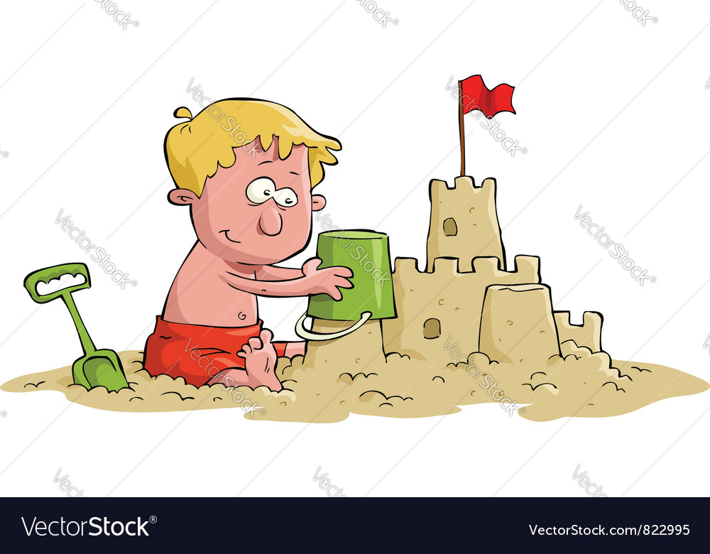Sand castle vector | Price: 3 Credit (USD $3)
