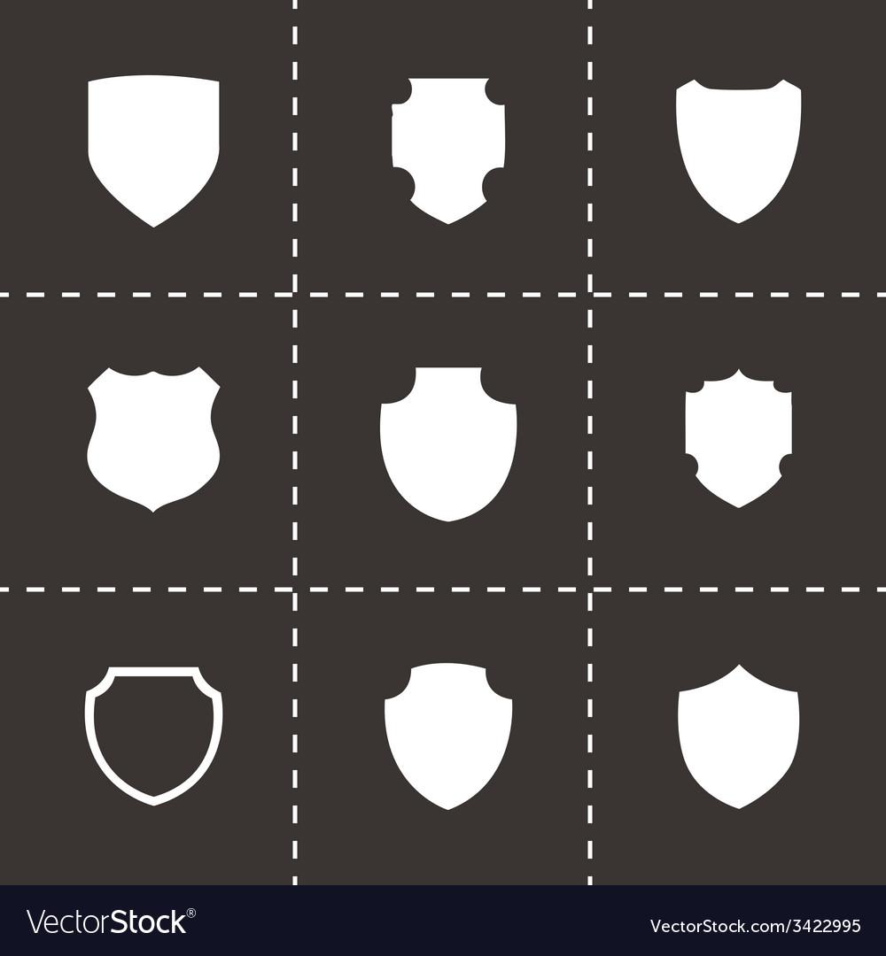 Shield icon set vector | Price: 1 Credit (USD $1)