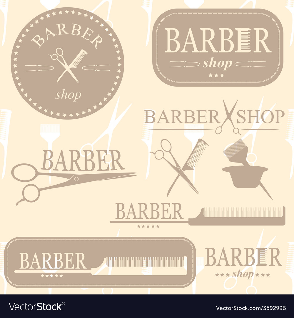 Barber logo vector | Price: 1 Credit (USD $1)