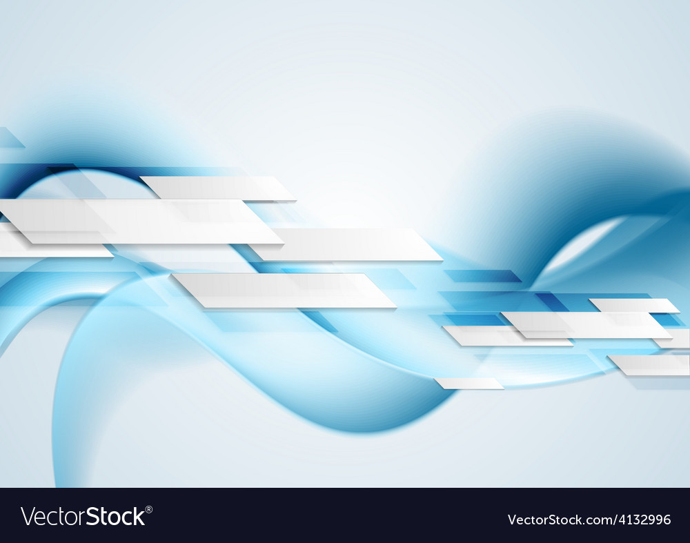 Blue shiny hi-tech motion waves background vector | Price: 1 Credit (USD $1)
