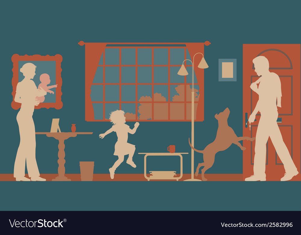 Family welcome vector | Price: 1 Credit (USD $1)