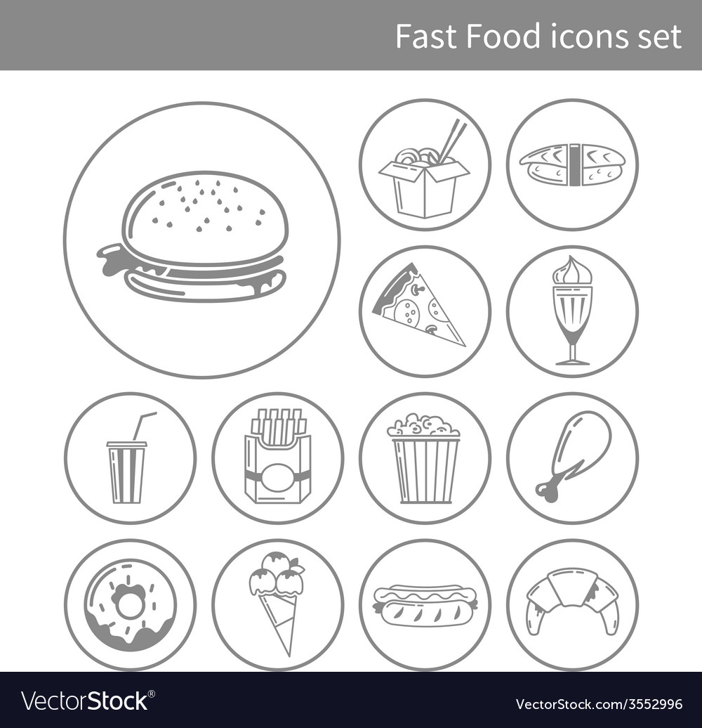 Fast food frame for web menu cafe and restaurant vector | Price: 1 Credit (USD $1)