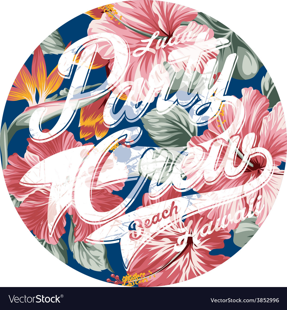 Luau party crew hawaii vector | Price: 3 Credit (USD $3)