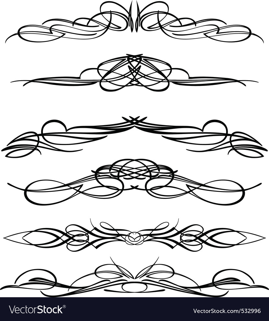 Pinstriping vector | Price: 1 Credit (USD $1)