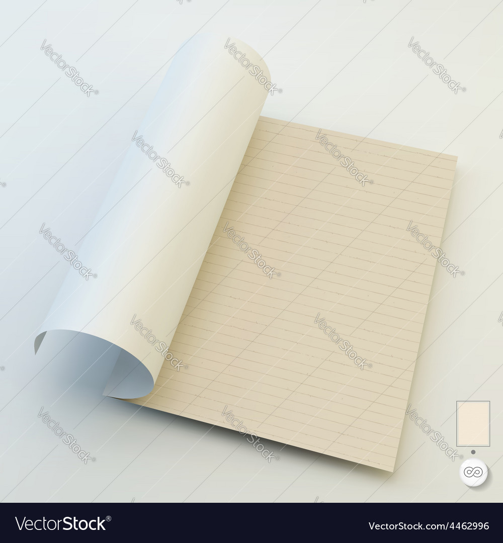 Seamless lined paper 3d vector | Price: 3 Credit (USD $3)